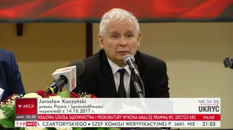 epokowe wydarzenua Jarosław Kaczyński - screen TVP elektrociepłownia na paliwo zapadł wyrok kuriozalny