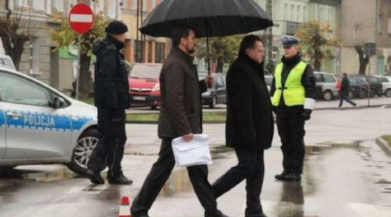 Jarosław Zieliński w Wydminach - fot. Kizinievic - Twitter