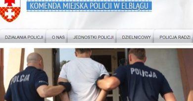 Policyjne perturbacje Komenda Miejska w Elblągu - screenshot