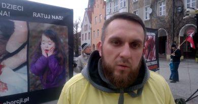 Jesteśmy głosem dzieci nienarodzonych! Łukasz Kotowski, Olsztyn, 21 marca 2017 r., fot. Stanisław Olsztyn