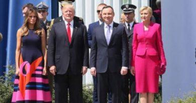 Donald Trump w Warszawie