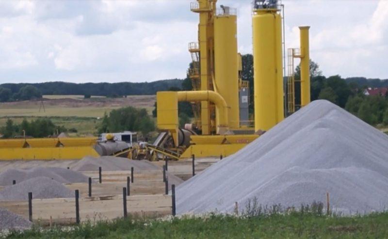 Mobilna wytwórnia mas bitumicznych w Klewkach, fot. S. Olsztyn