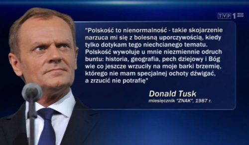 Donald Tusk - polskość