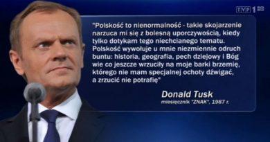Polskość to nienormalność - Donald Tusk - reakcja