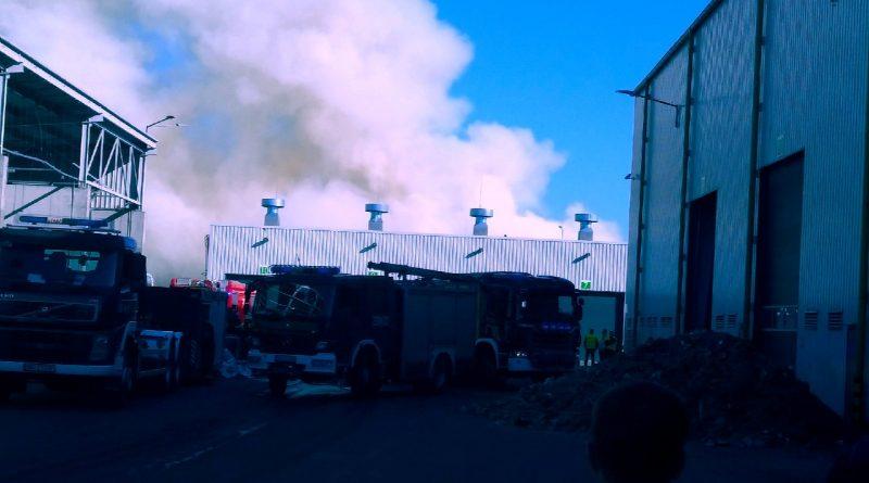 Pożar w ZGOK Olsztyn, 24.05.18 r. - fot. Andrzej Adamowicz
