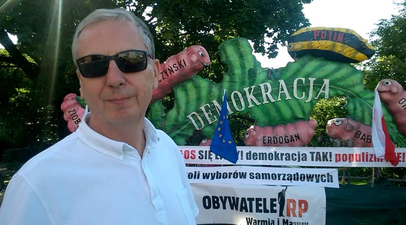 Polityką można się brzydzić ... Jerzy Dramowicz, Olsztyn 16.06.18 r. - fot. Stanisław Olsztyn
