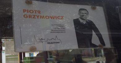 Skandal w galerii Piotr Grzymowicz - Reklama w MPK