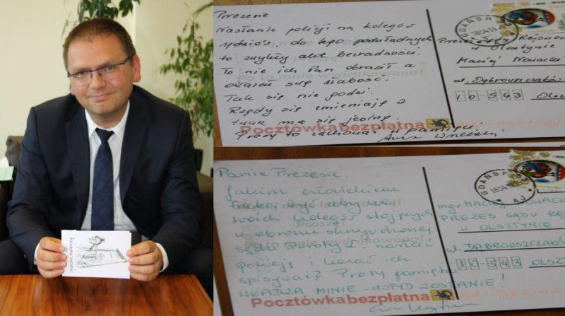 Ludzie listy piszą do Prezesa Sądu Rejonowego w Olsztynie Macieja Nawackiego - fot. Ku Prawdzie