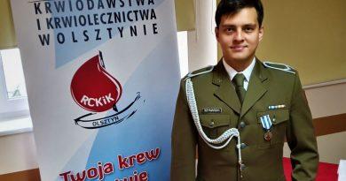 Terytorials st. sierż. Marek Szymański - Zasłużony dla Zdrowia Narodu