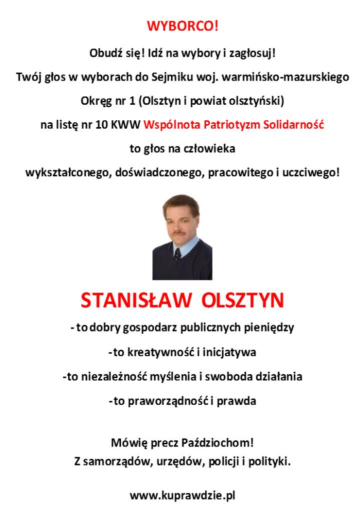 List do wyborcy SO
