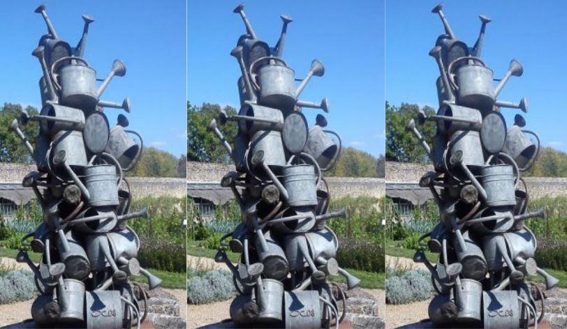 Bezrobotny na kuracji - Pomnik w Nohant