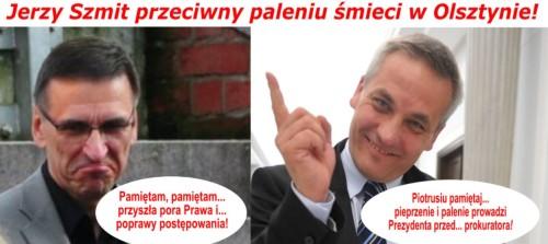 Jerzy Szmit przeciwny paleniu śmieci w Olsztynie