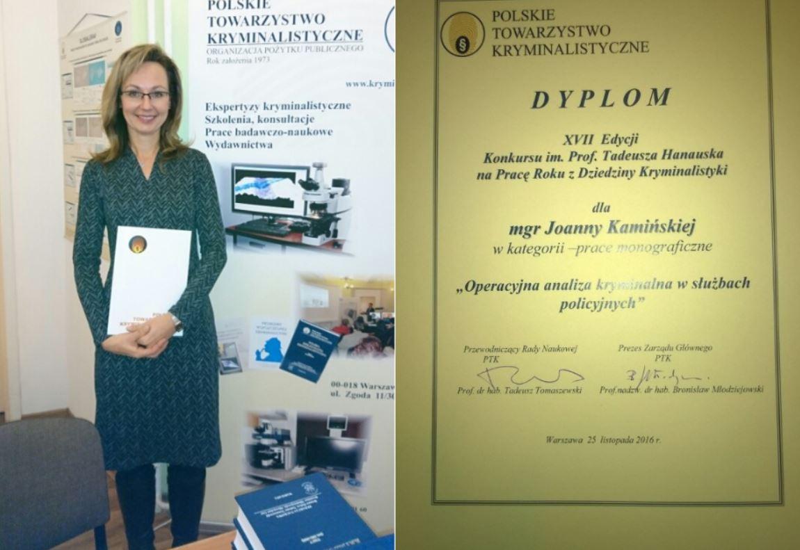 Joanna Kamińska laureatką konkursu