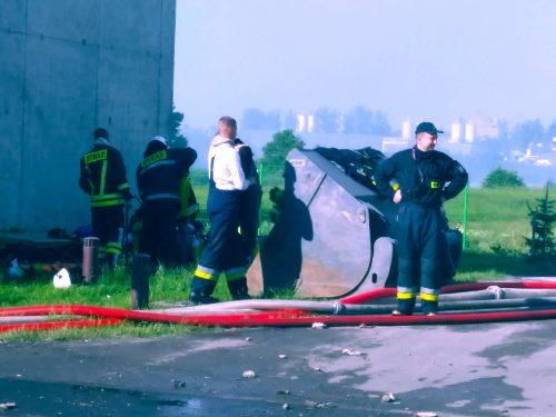 Pożar w ZGOK Olsztyn, 24.05.18 r. - fot. Andrzej Adamowicz (2)