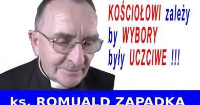 Kościołowi zależy by wybory były uczciwe - ks. Romuald Zapadka