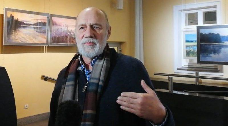 Janusz Połom w Galerii Stary Ratusz - 28.11.2018 - fot. Stanisław Olsztyn