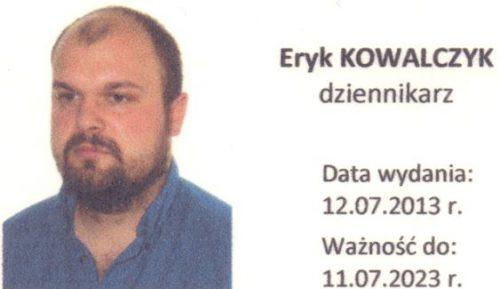Eryk Kowalczyk - Legitymacja
