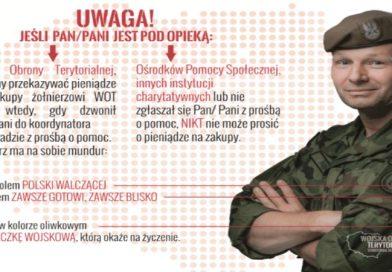 Oszuści próbowali wyłudzić pieniądze na żołnierza WOT - Ulotka