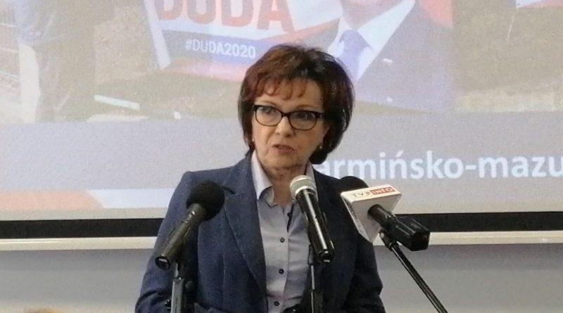Elżbieta Witek w Olsztynie - 25.06.2020 - Nie odpoczywajmy