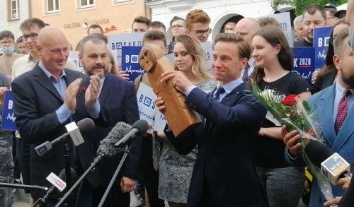 Krzysztof Bosak witany w Olsztynie - 22.06.2020