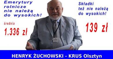 Emerytury rolnicze - Henryk Żuchowski