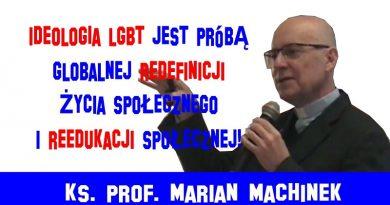 Ks. prof. Marian Machinek - Ideologia LGBT
