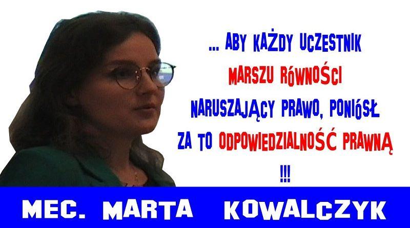 Marsz Równości - Mec. Marta Kowalczyk