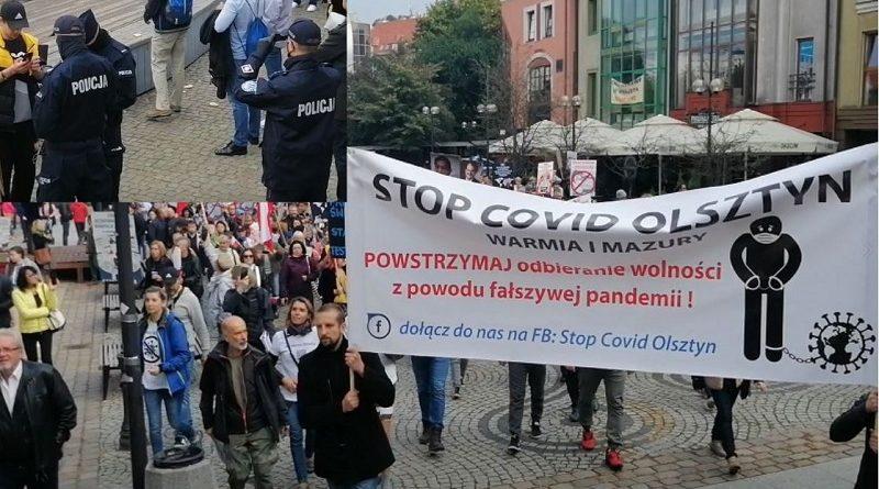 Stop Covid Olsztyn - Policja filmuje i legitymuje