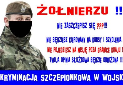 Dyskryminacja szczepionkowa w Wojsku Polskim