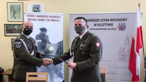 Porozumienie Terytorialsów z Wojewódzkim Sztabem Wojskowym - fot. 4.WMBOT