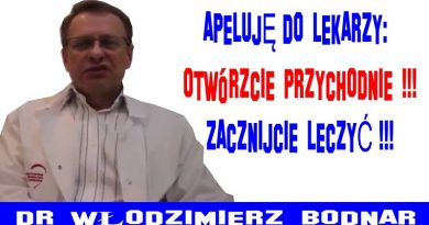 Dr Włodzimierz Bodnar apeluje do lekarzy