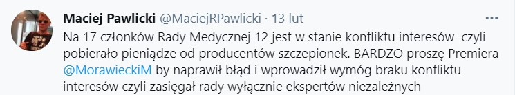 Maciej Pawlicki - Twitter
