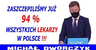 Michał Dworczyk - Zaszczepiliśmy wszystkich lekarzy w Polsce
