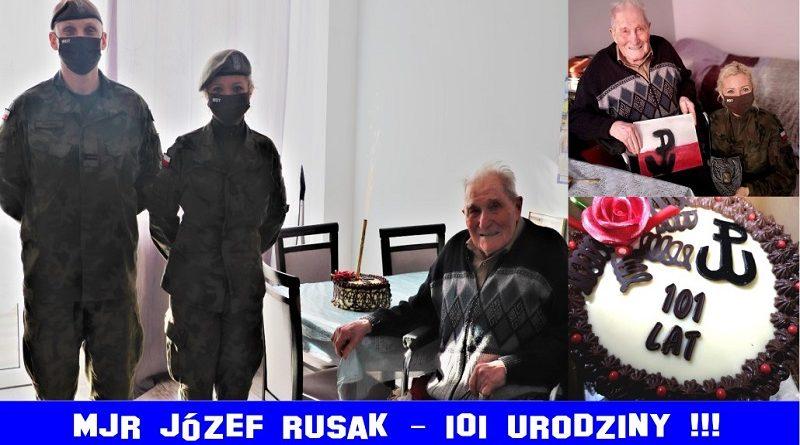 Mjr Józef Rusak - 101 urodziny